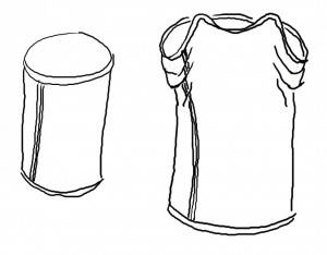 Fig 5 rørformet kjole